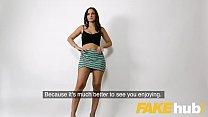 Fake Agent Spunk loving tattooed Spanish babe Claudia Bavel in sex casting image