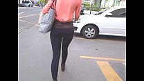 Nice Assets: Ho t Slim Girl On Leggings Leggings