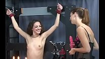 Naked babes roughly playing in bondage xxx amateur video