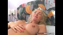 Busty Blonde Granny Gets Her Hairy Pussy Fucked