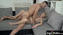 Malya's wrinkled twat satisfy by Mugur's young cock