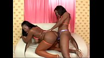 Two booty black sluts in red lingeries Candice ...
