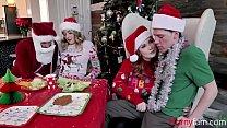 Family Christmas Orgy- Charlotte Sins & Summer Hart