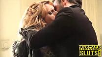 Brittany Bardot swallows Pascals big dick and rides him image