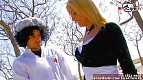 spanish nurse get threesome mmf