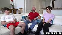 Stepdad teaching sons gay sex