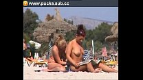 two lesbians in beach image