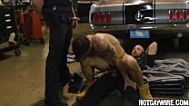 Two officers arrest a guy then fuck him (part 3) - gay porn