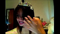Peituda gostosa na webcam