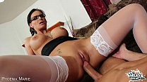Big breasted Phoenix Marie suck and fuck cock