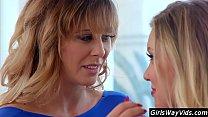 Milf stepsisters turn lesbian
