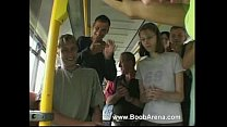 (dogging) laura lion - fucked on public bus
