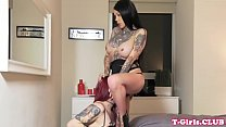 Inked les tranny assfucking bigtitted lover pornhub video
