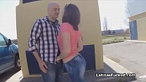 This Latina cutie loves outdoor quickies with strangers