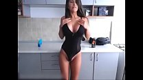 Cute InnocentEmmy Masturbates in Her Sexy Black Leotard