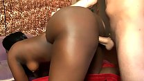 Black babe with a fat ass gets fucked real hard...