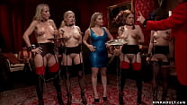 Four slaves nal fucked at bdsm party