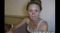 Skank Hooker Pleases Men In Hotel Room