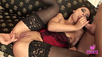 Hot Brunette In A Corset Valeria Gets All The C...