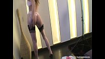 Gitta Blond With Pink Stockings