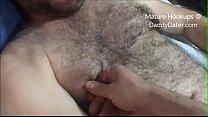 Hairy Cub Gets Fingered and Felt Up in Bed