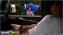 BANGBROS - Scarlett's Wild Ride On The Bang Bus During A Rainy Day