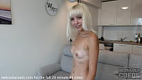 fresh casting video with spinner blonde estonian girl andromeda