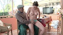 Nice titted french brunette banged by Papy Voyeur pornhub video