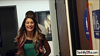 Busty August Ames has quickie sex in the office...