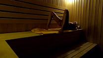 Hidden Camera: Girl Masturbates In Sauna In A Sports Club At Night