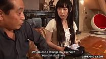 Japanese maid, Machiko Ono masturbates for a VIP client, uncensored