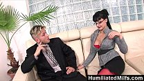 HumiliatedMilfs - Horny secretary loves a cock up her ass