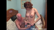 Hot caregiver Sarah Star fucked by grandpa Mireck