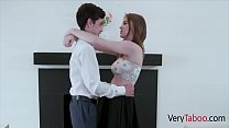 Teen Virgin Brother Guided By Hot Sister Before Prom- Melody Marks image