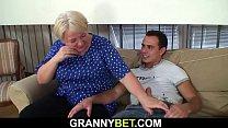 Big tits blonde old grandma
