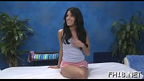 Cute gal seduces her boyfriend to have sex on camera preview image