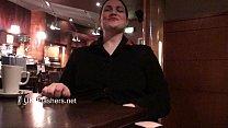 Upskirts masturbation in public restaurant of chubby amateur voyeur babe Alyss Preview