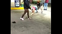 Argentinas fighting in service station