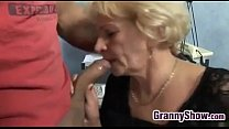 Horny Grandma In Fishnets Wants To Fuck