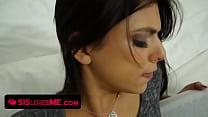 Skinny Brunette Sister's Revenge Cheats With Brother- Gina Valentina thumbnail
