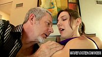 Perky Teen Sadie Holmes Sends A Hairy Geezer On A Wild Sex Ride