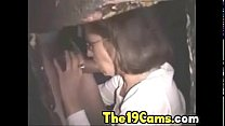 2 Couples Playing Together in the Gloryhole Boo...