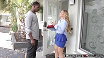 Glamour teen Sloan Harper pounded by massive black cock