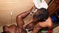 African Bathroom Hot Sex With Sexy Nigerian BBW... Thumbnail