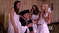 camille yang - 3 country nymphs suck the cream of 1 cock   xvideoscom thumbnail