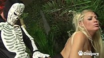 Cindy Behr And Her Priest Have A Crazy Satanic Orgy In The Jungle's Thumb
