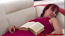 Redhead mature in love with busty babe