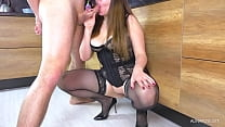 StepSister Blowjob and gets Big ass Fucked in Doggystyle in the kitchen