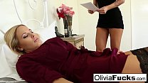 Olivia gets some lesbian room service from Brooke preview image