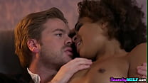 Ebony milf seduces and fucks in kinky couple